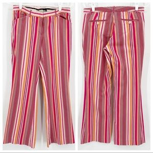 The Limited Pink Striped Pant Drew Fit Flare Leg 6